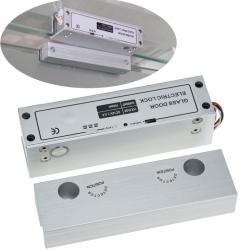 Khóa chốt cửa điện từ cho cửa kính, loại thường mở 12VDC có độ trễ 0-3-6 giây