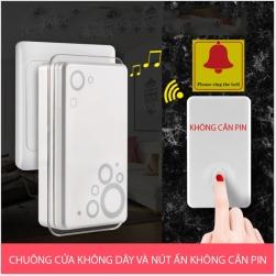 Chuông cửa không dây 32 kiểu chuông với nút ấn chuông không cần pin