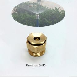 Đầu vòi phun tưới cây bằng đồng DN15 ren ngoài
