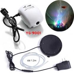 Bộ đèn LED đổi màu bể cá Q9 có đầu sủi bọt kèm máy tạo khí oxy cho bể cá