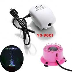 Bộ đèn LED đổi màu bể cá có đầu tạo sủi bọt kèm máy tạo khí oxy cho bể cá