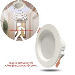 Đèn LED downlight 7W kèm cảm biến chuyển động vi sóng Radar YX9237