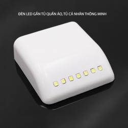 Đèn led thông minh gắn tủ bếp, tủ quần áo HXM1301 - tự động bật khi mở tủ, tự động tắt khi đóng tủ