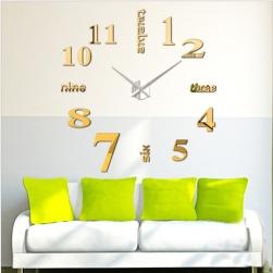Đồng hồ dán tường tự làm DIY số và chữ tiếng anh