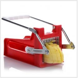 Dụng cụ cắt khoai tây và củ quả chiên bằng nhựa và thép inox (màu đỏ)