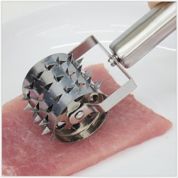Dụng cụ làm mềm thịt kiểu lăn bằng thép inox không gỉ
