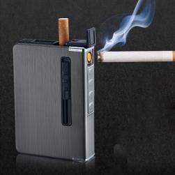 Hộp đựng thuốc lá kiêm bật lửa sạc điện HY013