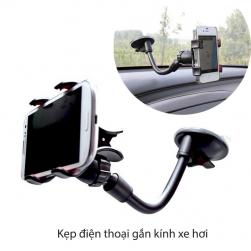 Kẹp điện thoại gắn kính xe ô tô JC6022 thân uốn cong linh hoạt