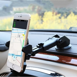 Kẹp điện thoại gắn nhựa và kính xe ô tô JZ25 thân có thể kéo dài và xoay 360 độ