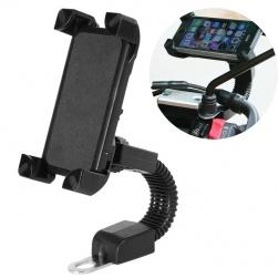 Giá đỡ kẹp điện thoại gắn trên xe máy có thể xoay 360 độ