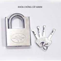 Khóa chống cắt bằng thép cứng 6 cm kèm 4 chìa khóa