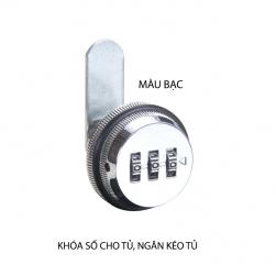 Khóa số KS9503 cho ngăn kéo bàn, tủ với 3 mã số có thể thay đổi được, bằng hợp kim