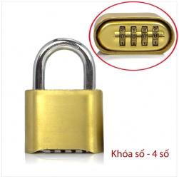 Khóa số chống trộm D5061, loại 4 số có thể thay đổi được mã số
