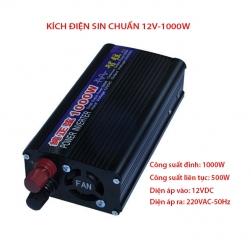 Bộ đổi nguồi điện (Inverter-kích điện) 1000W, 12VDC lên 220VAC