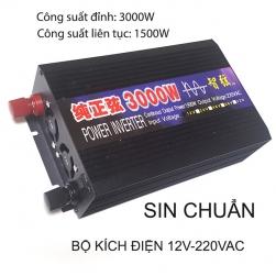 Bộ đổi nguồi điện (kích điện- Inverter) 3000W, 12V lên 220VAC