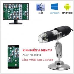 Kính hiển vi điện tử YPC-X02 Zoom 1000X, 2Mpixel, 3 cổng kết nối hỗ trợ Android, Window, Mac