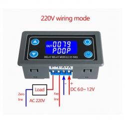 Module mạch Rơ le thời gian trễ relay timer XY-WJ01 tự động tắt, bật theo chu kỳ lặp lại, hoặc 1 lần