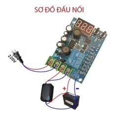 Module mạch kiểm soát và điều khiển tự động sạc bình ắc quy YX-X2086 điện áp 3.7V-120V