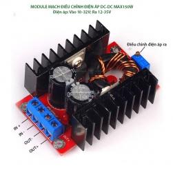 Module tăng điện áp DC-DC 150W vào 10-32VDC ra 12-35VDC