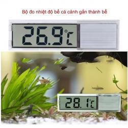 Nhiệt kế đo nhiệt độ bể cá kỹ thuật số trong suốt gắn thành bể