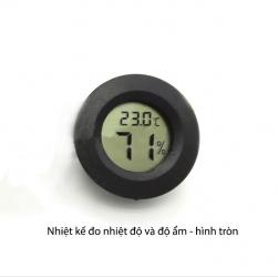 Nhiệt kế hiển thị nhiệt độ và độ ẩm kỹ thuật số hình tròn