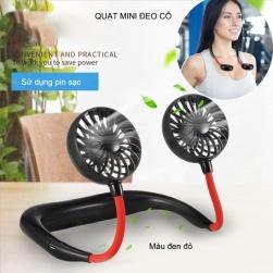 Quạt thể thao mini đeo cổ sử dụng pin sạc QTT01