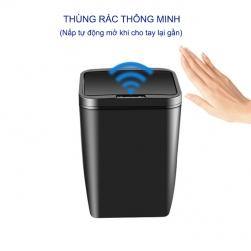 Thùng rác thông minh cảm biến tự động đóng mở, vỏ nhựa, sử dụng 2 pin tiểu AA