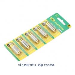 Bộ 5 viên Pin tiểu 12V23A cho điều khiển cửa cuốn, điều khiển từ xa khác (remote)