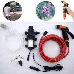Bộ máy bơm nước rửa xe ô tô 12V100W – 1.0MPA kèm vòi xịt, ống nước 8m