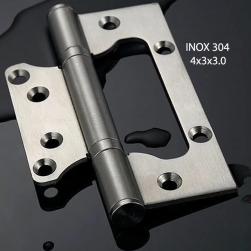 Bản lề lá âm Dương (cánh bướm) BLAD-4x3x3.0 bằng inox 304 dày 2.2mm cho cửa gỗ, cửa nhựa, cửa nhôm