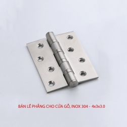 Bản lề lá phẳng BLLP-4x3x3.0 bằng inox 304 dày 2.5mm cho cửa gỗ