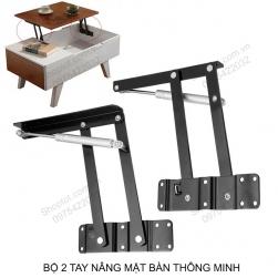 Bộ 2 tay nâng mặt bàn thông minh HN917 có thanh thủy lực