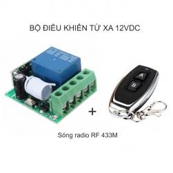 Bộ điều khiển từ xa 12V-10A KR1201 sóng RF 433Mhz (Gồm tay điều khiển remote và 01 bộ nhận)