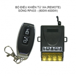 Bộ điều khiển từ xa 220V-20A, 800W-4000W sóng RF 433Mhz (Gồm tay điều khiển và 01 bộ nhận)