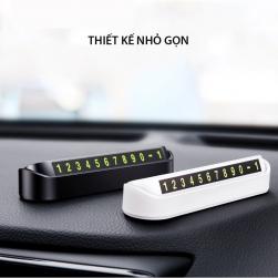 Bảng số điện thoại đặt trên xe ô tô, có thể đóng mở, có dạ quang JK297