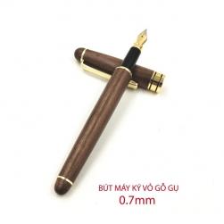 Bút máy ký (cây viết) G07 vỏ gỗ gụ, nét 0.7mm, có hộp giấy
