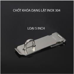 Chốt khóa cửa kiểu lật bằng inox 304 dày 2mm
