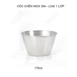 Bát chén đựng gia vị bằng inox 304 loại 1 lớp 170ml