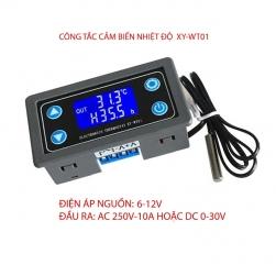 Công tắc thông minh cảm biến nhiệt độ XY-WT01 màn hình kỹ thuật số, đầu cảm biến rời, lắp âm