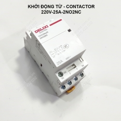 Bộ khởi động từ-contactor 220V-25A, 2NO2NC dùng làm bộ ATS tự động đóng nguồn dự phòng