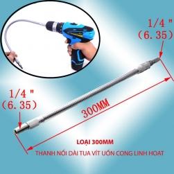 Thanh nối dài tua vít uốn cong linh hoạt, đầu lục giác 6.35 (dài 30cm)