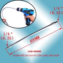 Thanh nối dài tua vít uốn cong linh hoạt, đầu lục giác 6.35 (dài 40cm)