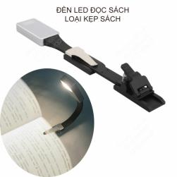 Đèn led đọc sách kẹp trang sách loại tốt dùng pin sạc, ánh sáng 3 màu