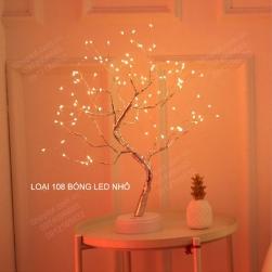 Đèn Led trang trí hình cây để bàn 108 led vừa làm đèn trang trí vừa làm đèn ngủ