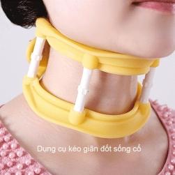 Dụng cụ kéo giãn đốt sống cổ bằng silicon cho người  thoái hóa đốt sống cổ, giữ cổ đúng tư thế