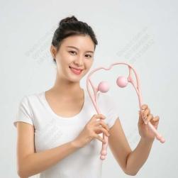 Dụng cụ bóp massage cổ bằng tay, vật liệu nhựa PP-TPR mềm, dẻo