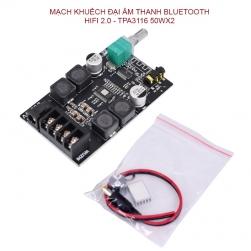 Mạch khuếch đại âm thanh bluetooth HIFI 2.0-TPA3116-50WX2