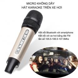 Micro Bluetooth không dây C200 hát Karaoke trên ô tô kết nối với xe bằng sóng FM