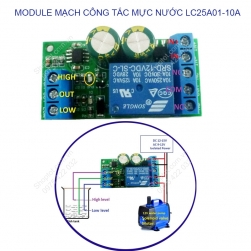 Module mạch công tắc cảm biến mực nước 2 mức cao và thấp LC25A01-10A