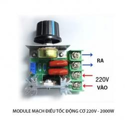 Module mạch chiết áp (dimmer) CCMAC 2000W-220V cho động cơ, ánh sáng, quạt sưởi